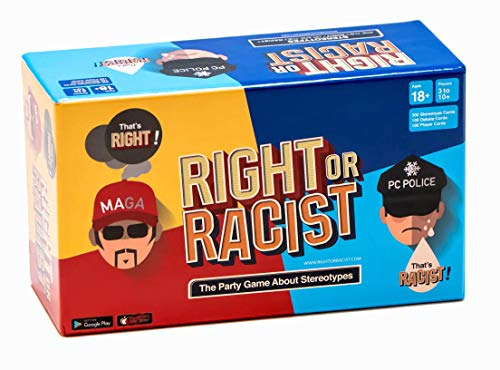 Right Or Racist - Funny White Elephant Gift - Gift for Men - Party Game - Hilarious Game - Great Gift - Birthday Gifts for Men and Women