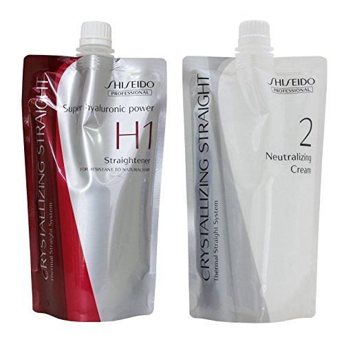 Hair Rebonding Shiseido Professional Crystallizing Hair Straightener (H1) + Neutralizing Emulsion (2) for resistant to natural hair by Shiseido Professional
