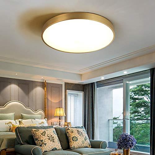 27W LED Deckenleuchte,Kupfer Einstellbare Lichtquelle 3000-6000K Wohnzimmerlampe Küchenleuchte Deckenbeleuchtung Panel Lüster Ultraslim Schlafzimmer Esszimmer Energiesparend [Energieklasse A++]