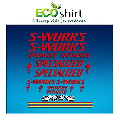 Ecoshirt 4P-3VUY-J4IW sticker S Works Specialized sticker decals sticker R84 rood