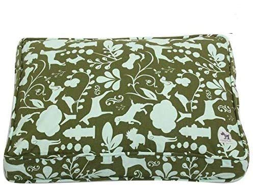 Molly Mutt Sheepy Wool-Filled Crate Pad - Wool Crate Mat - Comfy Pooch Dog Bed - Comfort Cuddler - Royal Dog Bed - Wool Dog Bed- Sheepskin Dog Bed - Wool Cat Beds - Dog Crate Rug