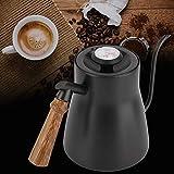Cafeteira Drip Over Gooseneck Chaleira de aço inoxidável, para cafeteria para casa de chá (sem termômetro, 12)