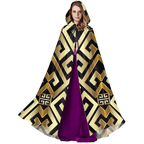 Zome Lag Devil Witch Wizard Cloak,Halloween Cosplay Costume,Cloak With Hood,Party Wizard Cape,Abstract Manders Ornament Cloak Hooded Cape Mens Cloak Hood