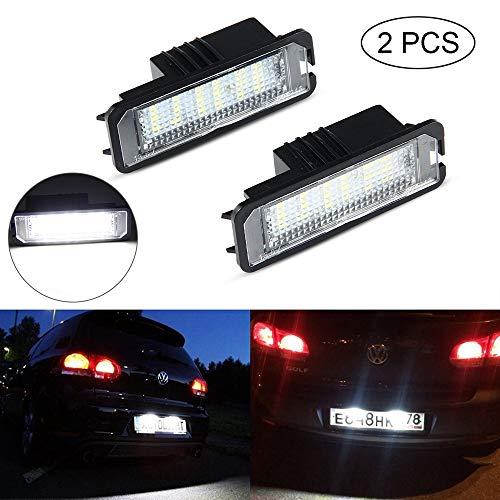 LED Luces de la Placa,UMIWE Lentes de luz de placa, Luces de placa de Matrícula Lámparas LED para V-W(GOLF/Lupo/Scirocco/Polo/Passat/Phaeton/NEW Beetle/EOS),S-EAT(Leon/Altea XL/Exeo LIMOUSINE/Ibiza)