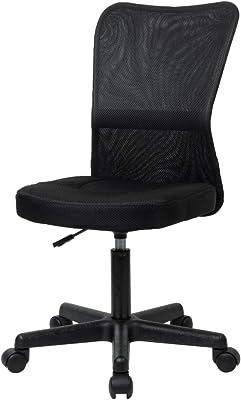 ナカバヤシ オフィスチェア デスクチェア メッシュチェア ブラック Z0615