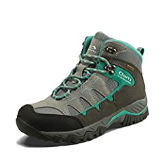 WATERPROOF and BREATHABLE : Clorts women hiking boots will keep you steady and confident on muddy, rocky and rugged terrain. Uneebtex breathable, waterproof membrane protects feet from outside elements, seals out rain, puddles and other things that s...