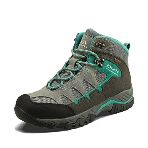 Clorts Women's Hiking Camping Boots Waterproof Breathable High-Traction Grip Voyageur Shoes HKM-823F US 7.5 Lake Blue