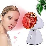 PGKCCNT Lámpara de calor de luz roja, bombillas de belleza roja 100W Combo con enchufe de luz, 3 tecnologías de infrarrojos bombilla roja para rejuvenecimiento de la piel, alivio del dolor, sueño y re