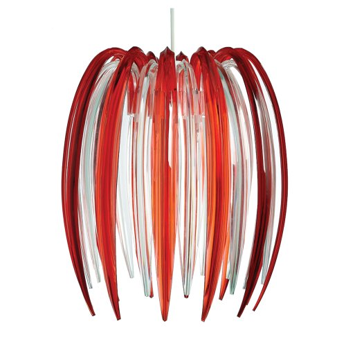 Lighting Web Co Suspension en acrylique Design griffes Transparent/rouge