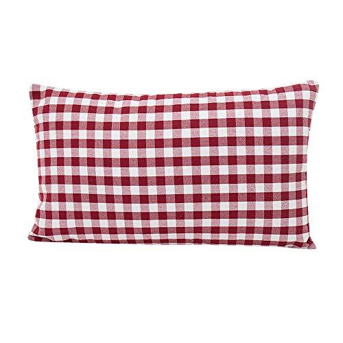 HUYURI Polyester Baumwolle Kissenbezüge Checkered Streifen Einfaches Muster Drucken Cafe Sofa Kissenbezug Home Decor Kissen 30 cm X 50 cm Und 45 cm X 45 cm