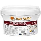 M-REPAR SUELOS de Tecno Prodist – (5 kg) Mortero de reparación suelos hormigón o cemento, incluso con tráfico rodado (transitable por vehículos en 2 horas)