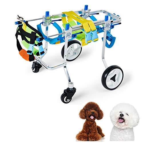 Cora Pet Rollstuhl für Wirbelsäule/Vorderbein/Hinterbeine/Füße des Hundes, Der Hund Kann Wieder Laufen, Gehhilfe für Hunde/Katzen/Kaninchen, Hunderolli Hundegehilfe Rollwagen Hunderollwagen, 3~16 KG