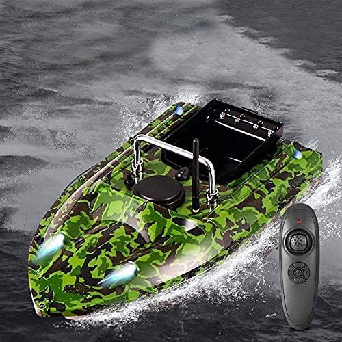 HHORB Barco De Cebo De 500 M De Distancia, Buscador De Peces, Buscador Inalámbrico De Señuelos De Pesca, Buscador De Peces, Barco con Buscador De Peces (Color : Green)