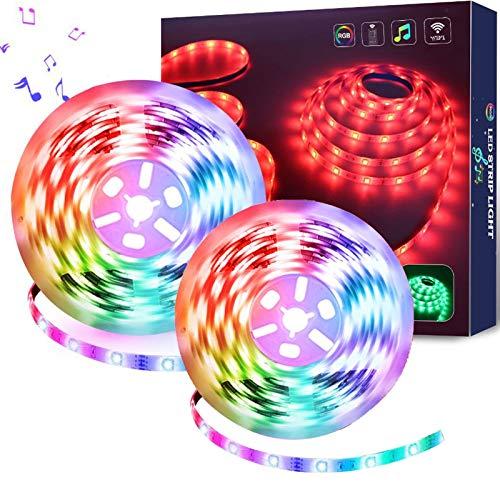 Luces de Tira LED 10Metros WiFi, Impermeable Tira de LED Kit Completo Funciona con Alexa, Google Home, WiFi Teléfono Inteligente Inalámbrica Luces LED Kit