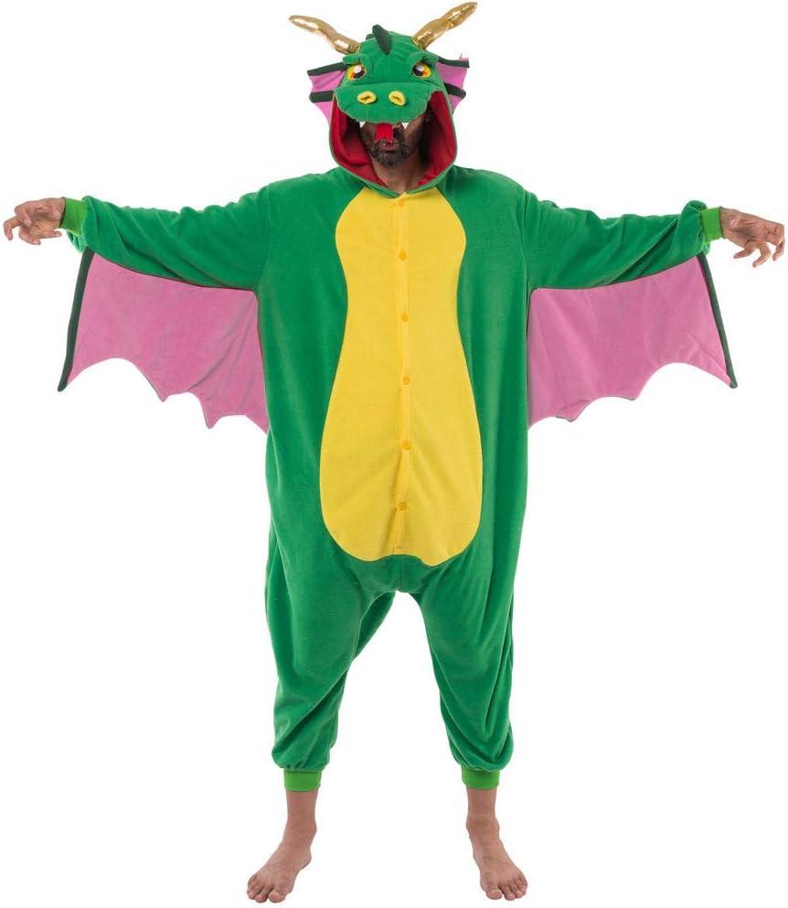 Large Spooktacular Creations Unisex Adult Pajama Plush Onesie Dragon Animal Costume