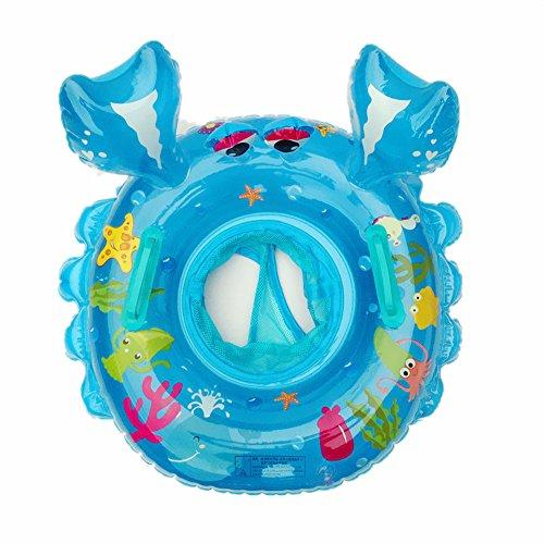 Cartoon-Krabbe schwimmen Ring , Chickwin Baby Aufblasbare Schwimmbad Float Swim Ring Kleinkind Sicherheit Aufblasbare Sitzring Sitz Schwimmen Ring (Blau)
