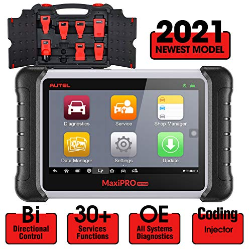 Autel MaxiPro MP808K Diagnostic Scan Tool, 2021 Newest Bi-Directional Scanner with 30+ Services, ABS Brake Bleed, Injector Coding, SRS, Oil Reset, EPB, SAS, DPF, BMS, Upgraded Ver. of MP808, DS808