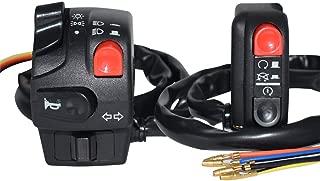 Colore : Nero Fresco Interruttori moto Interruttore Interruttore faro per frecce Indicatore di direzione luce alta//bassa luce Interruttore di avviamento per scooter Piaggio Durevole