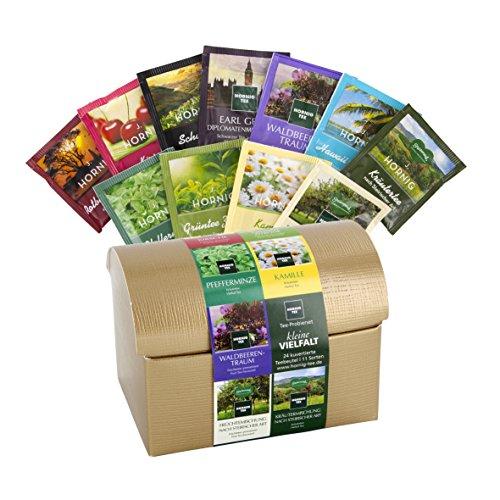 11 Teesorten in Teebeuteln in besonderer Schatztruhe-Teebox - Probierset