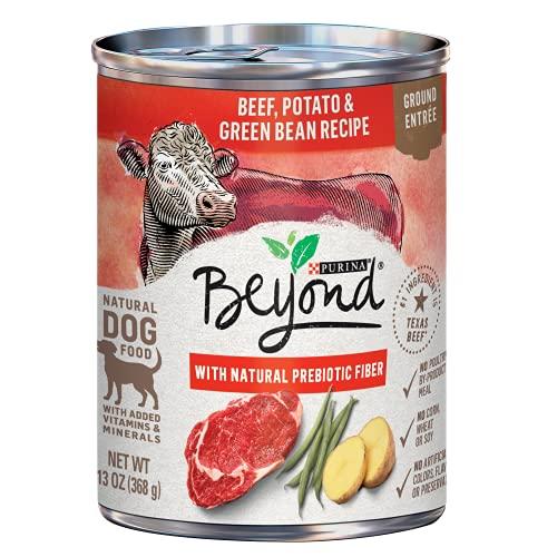Purina Beyond Grain Free, Natural Pate Wet Dog Food, Grain Free Beef, Potato & Green Bean Recipe - (12) 13 oz. Cans
