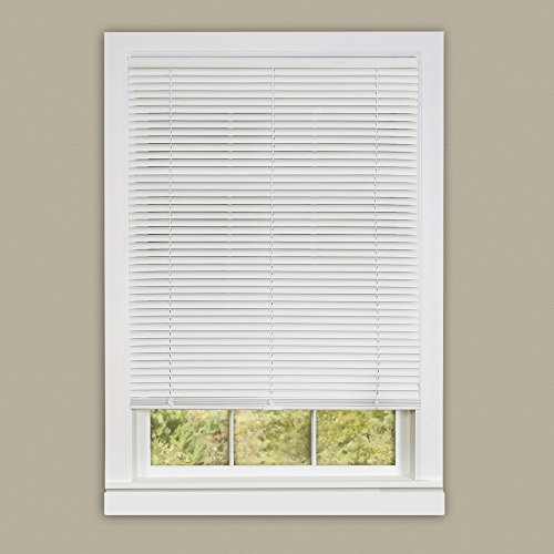 Achim Home Furnishings 35 by 64-Inch Deluxe Sundown 1-Inch Slat Room Darkening Blind, Mini, White