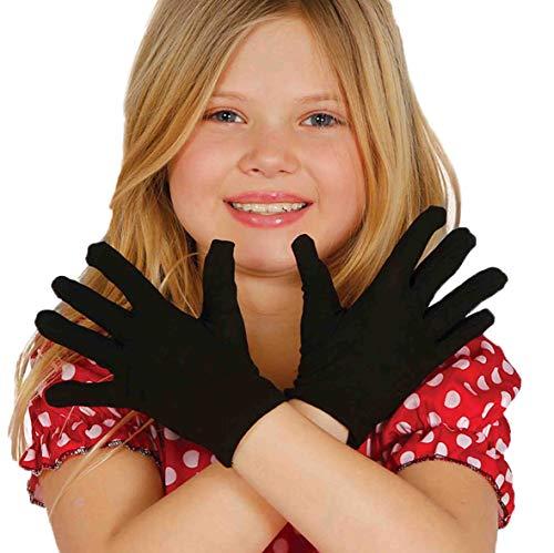 Guirca Fiestas GUI18542 - Schwarze Kinder-Handschuhe, 22 cm