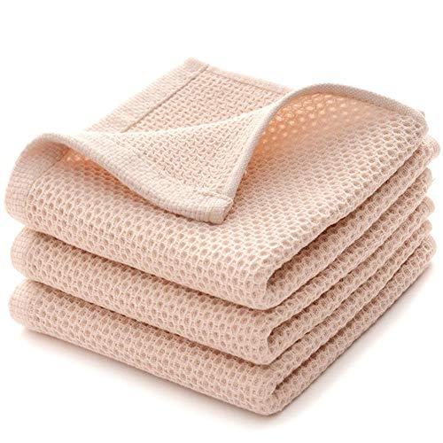 Huien 1 st katoen superzachte honingraat handdoek effen kleur super absorberend draagbaar haar gezicht handdoeken reizen badkamer handdoek voor thuis hotel, beige