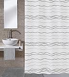Meusch 2603148305 Duschvorhang Waves, 180 x 200 cm, Multicolor