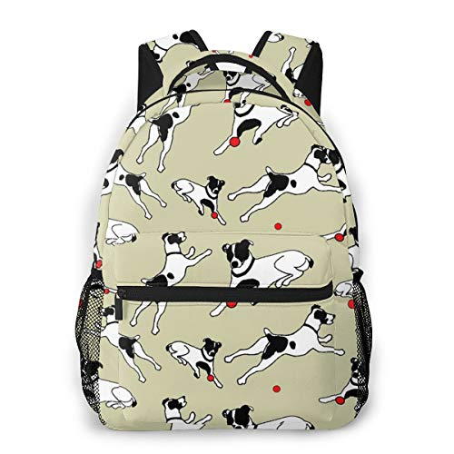 Backpack Best Jack Russell Terrier Lightweight Bag,Schoolbag,Laptop Bag,Cycling Hiking Camping Travel Outdoor,Durable Water Resistant