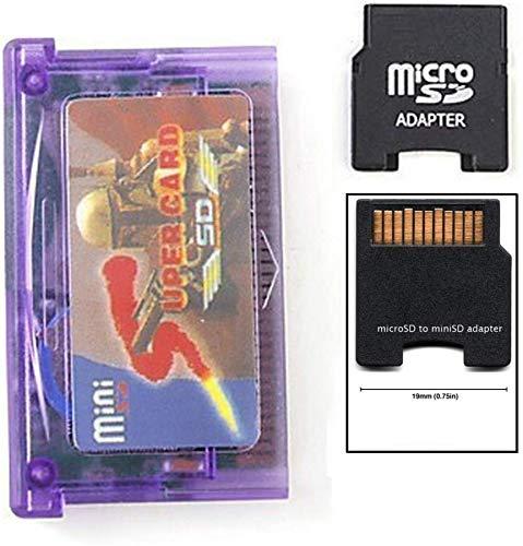 Entrega gratis Adaptador de Mini SD a Super Card para GBA SP NDSL + TF a Adaptador de Mini SD Card
