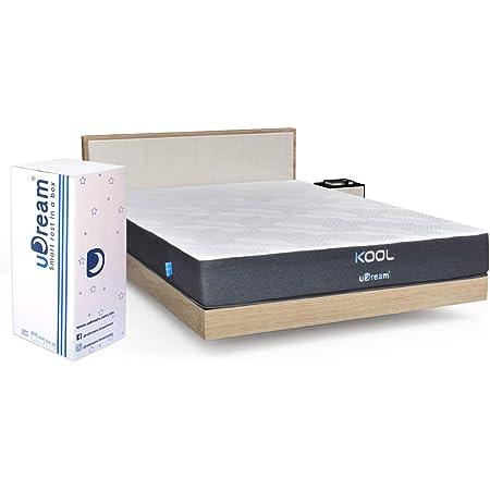 uDream Colchón en Caja Tecnología Memory Foam hipoalergénico - Kool (King Size)