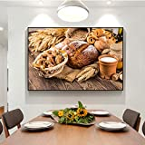 SADHAF Kitchen Theme Canvas Print Art Painting On The Wall Kitchen Room Decoración Picture Package Milk Canvas Mural A4 60x80cm