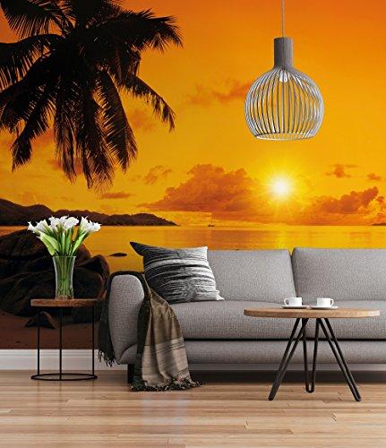 Sunny Decor SD316 Fototapete Sunset, Bunt, 368 x 254 cm (Breite x Höhe)