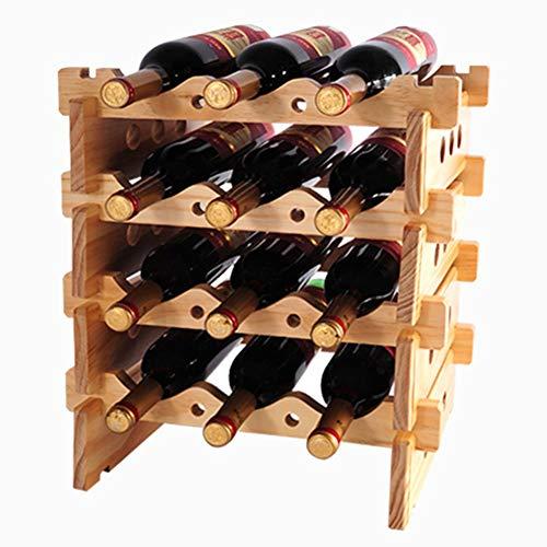 MTBH PMTBHScaffale per Vino Verticale impilabile, espositore per 12 Bottiglie Lo scaffale della Stazione Libera è Perfetto per la dispensa del seminterrato della Cantina