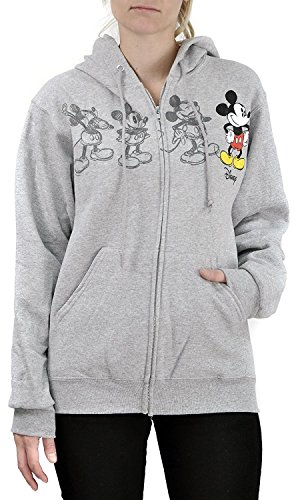 Disney Women's Mickey Mouse Classic Animation Zip Hoodie