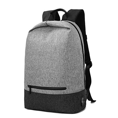 JT Outdoor Reise USB wiederaufladbare Rucksack 17 Zoll Student Rucksack Fashion Leisure Rucksack, Black/Gray