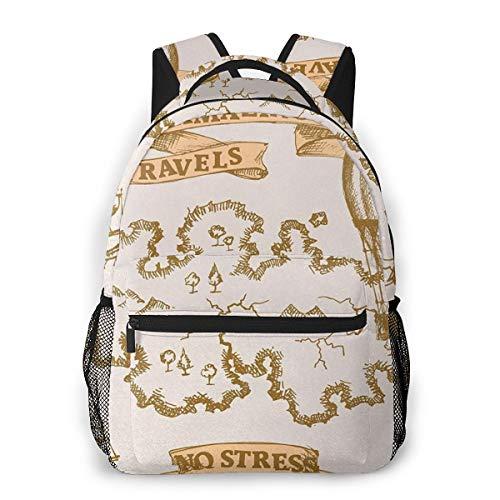 Rucksack Männer und Damen, Laptop Rucksäcke für 14 Zoll Notebook, Weltkarte 36 Kinderrucksack Schulrucksack Daypack für Herren Frauen