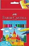 Faber-Castell 554201 - Estuche cartón con 12 rotuladores escolares