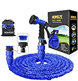 Best Expandable Hoses - HOMOZE 100ft Expandable Garden Hose Pipe with 8 Review