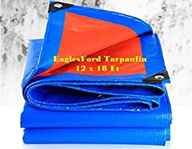 EaglesFord Plastic Tarpaulin Virgin UV Treated 150 GSM (Yellow, 12 x 18 ft)
