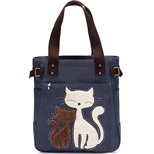 Vintage Reisetasche Handtaschen Schultertasche KAUKKO Shopper Taschen Umhängetasche Damen...