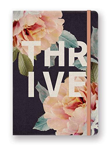 Diário compacto desconstruído da Studio Oh! – Thrive – Caderno de capa dura de 12,7 cm x 18,4 cm com arte colorida, páginas 192 pautadas e encadernação plana – para notas, lembretes e mais