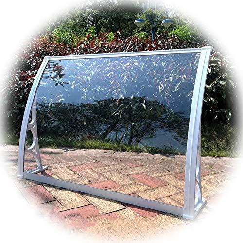 LIANGLIANG Marquesina Toldo, Aleación Aluminio PC Durable Anti Envejecimiento, Usado para Tablón Anuncios Puerta Entrada, Tamaño Personalizado (Color : Transparent, Size : 60x60cm)
