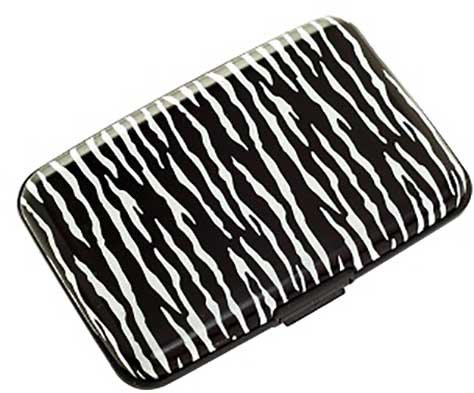 Plixio Zebra Aluminum Wallet & Credit Card Case with RFID Protection