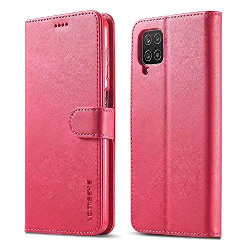 iLovecover Funda Compatible con Samsung Galaxy A8 Plus 2018,Premium Cartera Carcasa de con Ranura para Tarjeta Caso para Samsung Galaxy A8 Plus 2018,Rojo