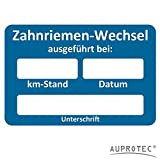 AUPROTEC Kundendienst Aufkleber Werkstatt Serviceaufkleber Auswahl: 5 Stück, Zahnriemenwechsel bei