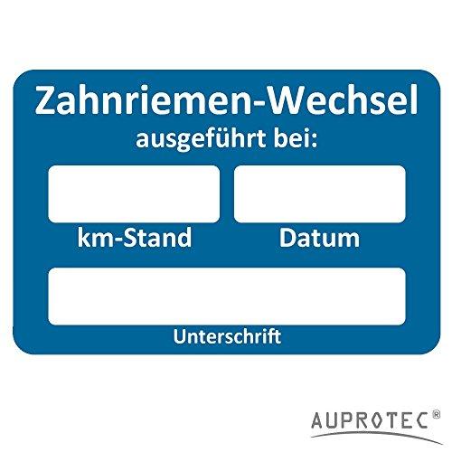 AUPROTEC Kundendienst Aufkleber Werkstatt Serviceaufkleber Auswahl: 100 Stück, Zahnriemenwechsel bei