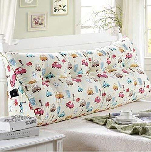 Kopfbrett Triangle Kissen Bett Große Kissen Doppelbett Rückenpolster-Kissen-weiche Tasche Lendenwirbelstütze Abnehmbarer waschbare 6 Farben, 5 Größen (Farbe: C, Größe: 150 * 25 * 50 cm), Größe: 60 * 2