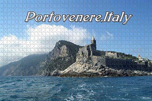 Waniyin Puzzle 1000 PCS Pezzi Puzzle Puzzle Liguria, Italia (ortovenere) Liguria Perfetto per Adulti educativo intellettuale decomprimente