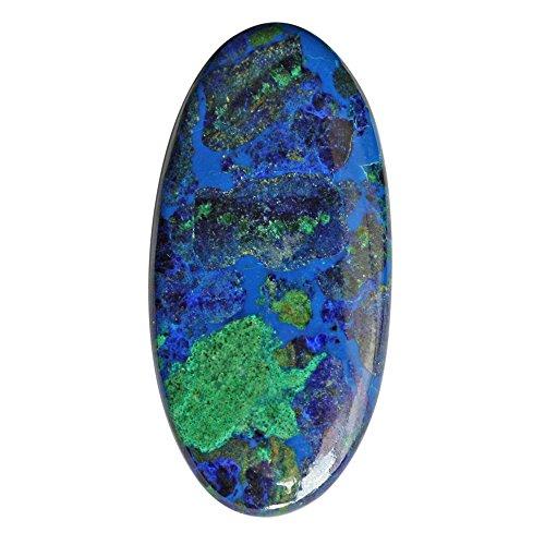 Piedra preciosa lapislázuli, cabujón de malaquita para la fabricación de joyas, azurita ovalada colgante piedra AG-5153